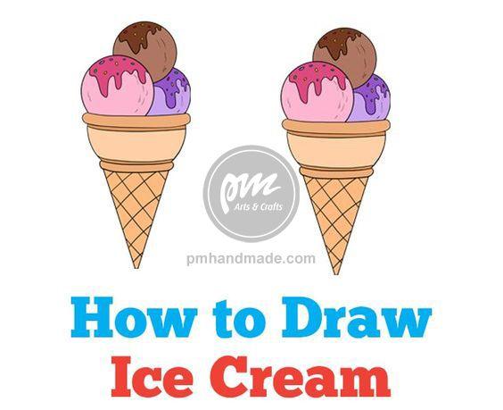 Các bước vẽ cây kem cơ bản