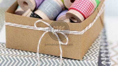 Hướng dẫn làm hộp giấy với bàn cấn