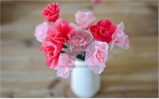 Hướng dẫn làm hoa hồng trang trí