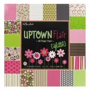 Bút vẽ, bút sharpie, cardstock pad in hoạ tiết Uptown Flair 12