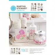 stencil trang trí, stencil, khuôn hình, khuôn trang trí, Stencil Martha Stewart mẫu hoa lá
