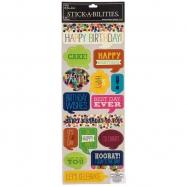 Cardstock sticker chủ đề Birthday Bubbles