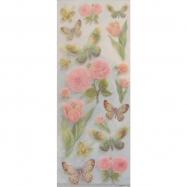 Sticker kim tuyến mẫu bướm và hoa