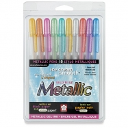 Bút gel Sakura set 10 màu metallic