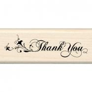 Dấu in chữ Thank You cách điệu