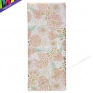 Giấy tissue in hoa màu metallic hồng và xanh mint