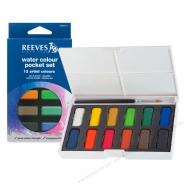 Màu nước Reeves set 12 dạng hộp