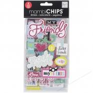 Chipboard sticker mẫu Good Friends