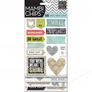 embossing powder, bột tạo nổi 3D, bột in nổi, bột dùng với máy heat tool, Chipboard sticker mẫu Love This