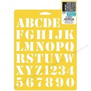 Stencil bảng chữ cái & số