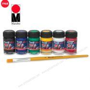 Màu vẽ vải Marabu Textil Plus set 6