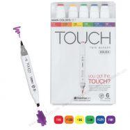Bút touch Shinhan set 6 màu cơ bản