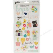 Chipboard sticker mẫu Faith 6