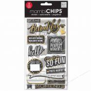 Chipboard sticker mẫu Chalk Makes Me Smile