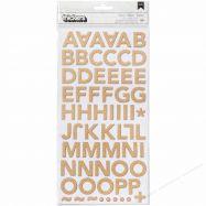 Chipboard sticker mẫu chữ cái