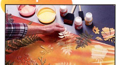 Trang trí vải theo chủ đề thiên nhiên bằng màu Pebeo
