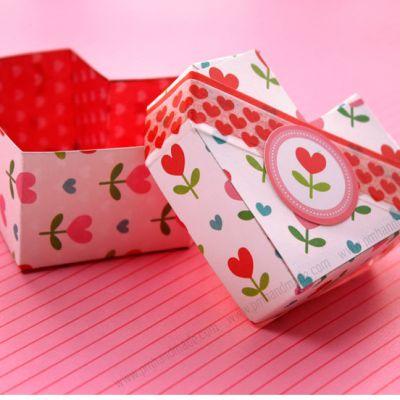 Hướng dẫn làm hộp quà trái tim Valentine.