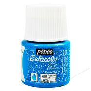 Màu vẽ vải Pebeo xanh aqua kim tuyến