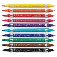 Set bút thư pháp 2 ngòi Manuscript 10 màu