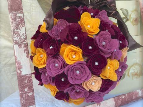 Làm hoa vải từ máy Sizzix