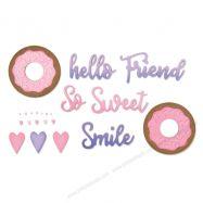 Khuôn cắt Sizzix mẫu Donut Phrases