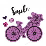 Khuôn cắt Sizzix + stamp in hình xe đạp #662908