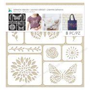 Stencil hình bướm & hoa