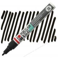 Bút vẽ sứ, thủy tinh Marabu màu đen
