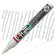 Bút vẽ sứ, thủy tinh Marabu màu trắng