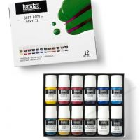 Bộ 12 màu vẽ vải Liquitex Soft Body (22mlx12)