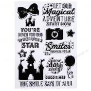 dấu in trong, clear stamp, dấu in , con dấu, dấu in mực, dấu in cao su, đế đóng dấu, Dấu In Trong Mẫu Magical Adventure