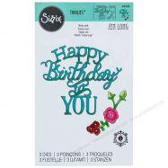 Khuôn cắt Sizzix chữ Happy Birthday to You