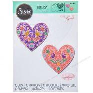 Khuôn cắt Sizzix mẫu tim #663582