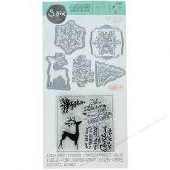 Khuôn Sizzix Mẫu Noel + Stamp #662280