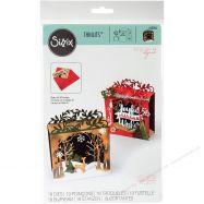 Khuôn Thiệp Mẫu Hộp Holiday Shadowbox #662284