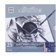 Bộ Chì Than Black & White Cretacolor Set 25