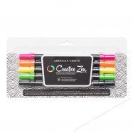 Set bút cọ 2 ngòi AC 5 màu fluorescent