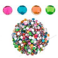 Đá acrylic trang trí tròn sắc màu