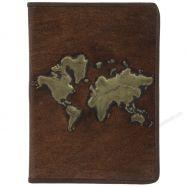 Sổ Sketchbook bìa da in nổi bản đồ