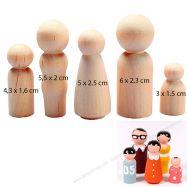 Bộ mô hình người gỗ mini