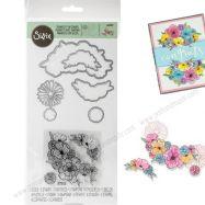 Combo khuôn và stamp hoa #664355