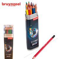 Set 18 chì màu Bruynzeel - hộp tam giác màu xanh