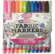 Bút vẽ vải không phai Tulip Set 12 màu rainbow
