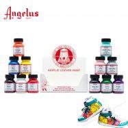 Màu vẽ vải da Angelus set 12 màu