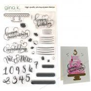Bộ stamp in Emily Loggans Cake Toppers Gina K