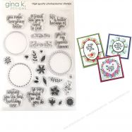 Bộ Stamp in Original Wreath Builder Gina K