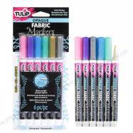 Bút vẽ vải Tulip set 6 màu bright