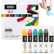 Bộ bút acrylic Liquitex set 6 màu cơ bản - ngòi wide