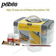 Bộ 10 màu vẽ sứ Pebeo Porcelaine hộp nhựa