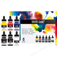 Mực ink Liquitex set 6 màu chuẩn